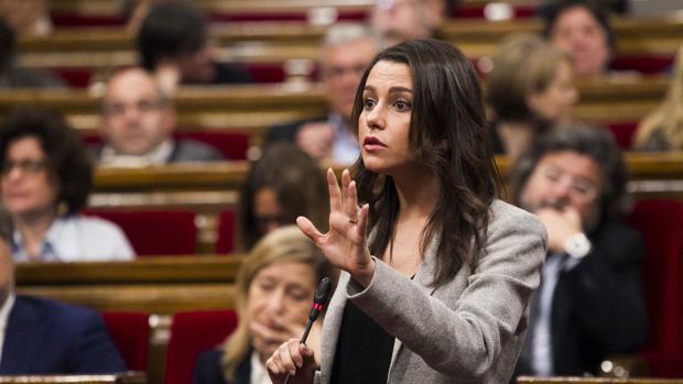 Inés Arrimadas, en el Parlament de Cataluña