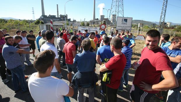 Los mineros levantan la acampada en la térmica de Compostilla pero anuncian nuevas movilizaciones