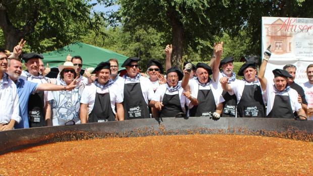 Los cocineros celebran su premio