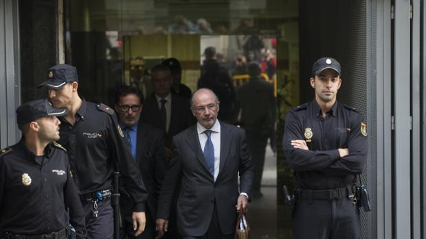 Rodrigo Rato abandona la Audiencia Nacional tras una comparecencia
