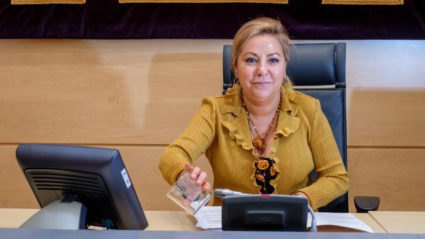 Rosa Valdeón, durante su intervención en rueda de prensa tras el último Consejo de Gobierno