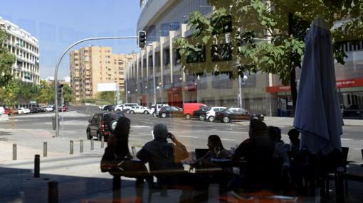 Vistas del estadio Vicente Calderón desde el Chiscón de la Ribera