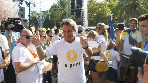 El expresidente de la Generalitat Artur Mas, en la Diada