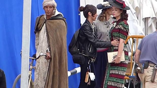 Marion Cotillard durante el rodaje de Allied en Gran Canaria, protagonizada por Brad Pitt
