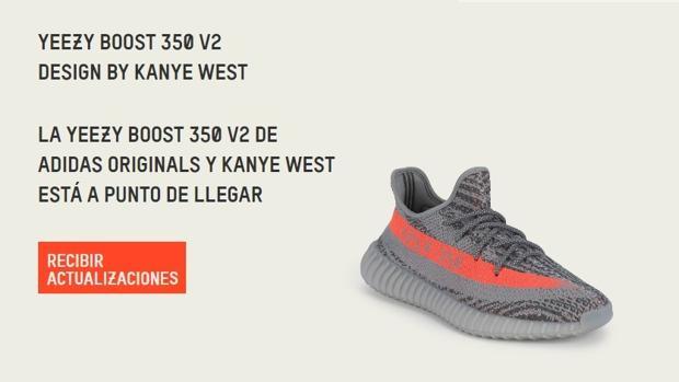 Modelo de zapatillas de Adidas YEEZY BOOST 350 V2, diseñado por el rapero Kanye West