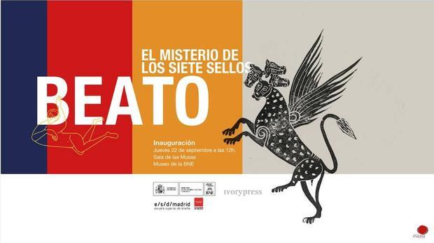 Cartel de la exposición «Beato. El misterio de los siete sellos»