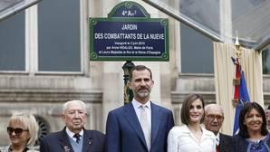 «La Nueve» ya tiene un jardín en París, inaugurado en presencia de los Reyes