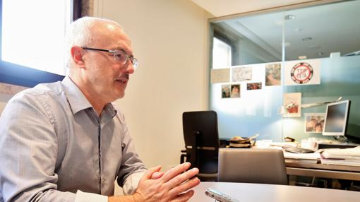 Antonio Montiel, durante la entrevista