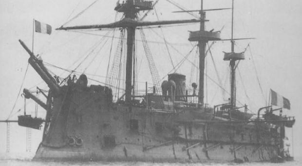 El destructor Marengo, de pabellón francés, con 74 cañones