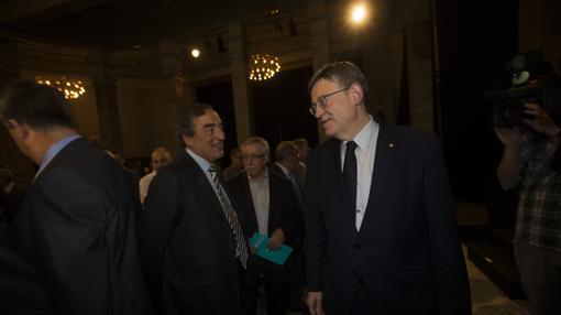 Imagen de Puig y Rosell tomada el pasado miércoles en Madrid
