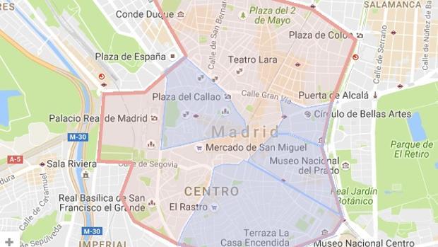 Restricciones Tráfico Madrid Mapa.Restricciones Trafico Madrid Hoy Mapa
