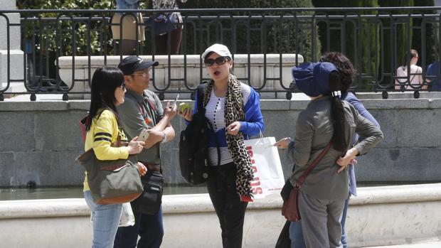 Turistas asiáticos en Madrid en una imagen de archivo