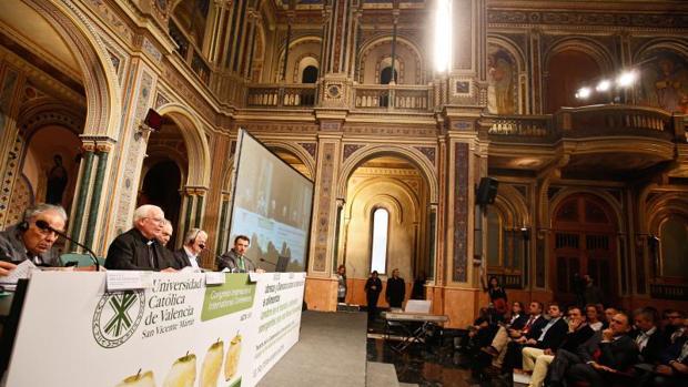 Un momento del congreso mundial contra el hambre celebrado esta semana en Valencia