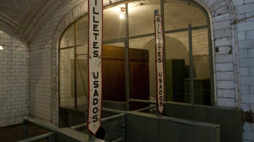 Interior de la estación fantasma de Chamberí