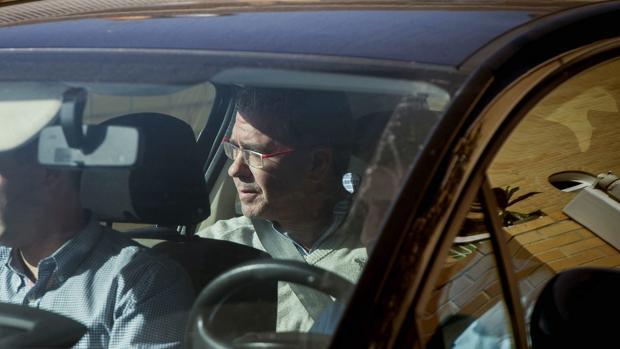 Francisco Granados, detenido por la Guardia Civil el 27 de octubre de 2014