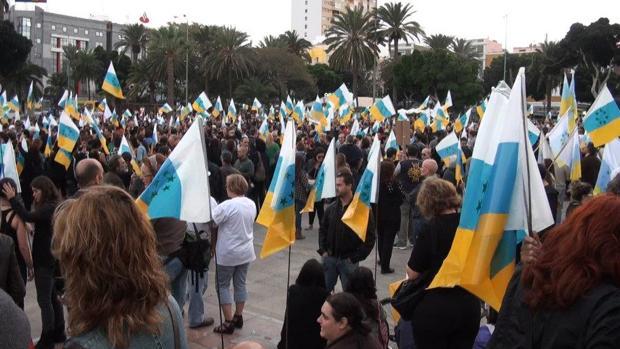 Un acto separatista en Gran Canaria
