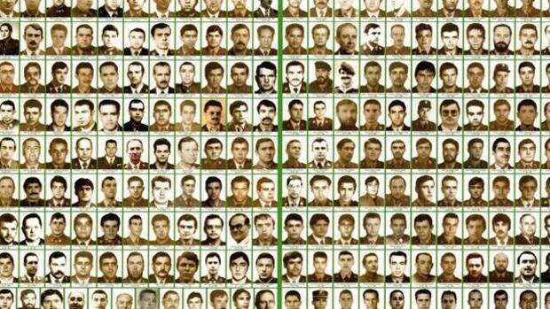 Díptico de la Guardia Civil con varias víctimas de ETA miembros del Instituto Armado