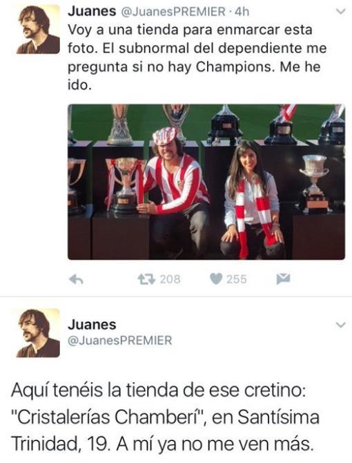Los dos polémicos tuits lanzados por @JuanesPREMIER