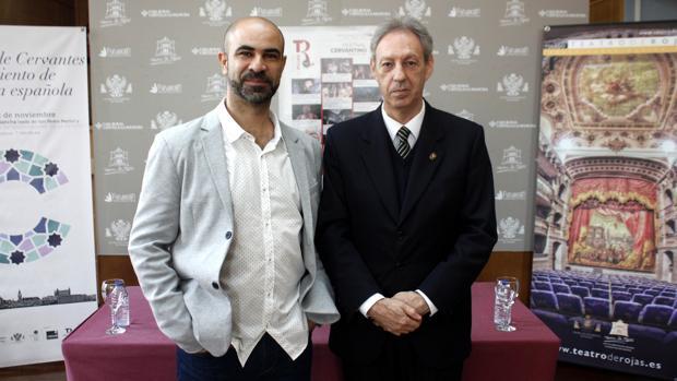 El actor, Mario Benítez y el concejal de Cultura, José María González Cabezas