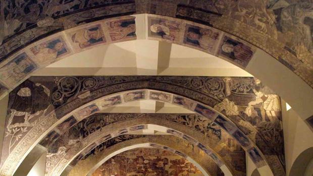 Los frescos románicos de Sijena se exhiben en el Museo Nacional de Arte de Cataluña (MNAC)