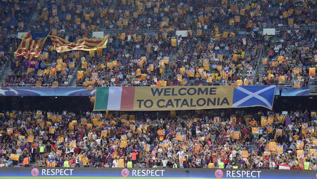 Imagen de un partido de Liga de Campeones disputado en el Camp Nou el pasado mes de septiembre
