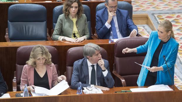 El escaño vacío de Elena González Moñux (PP)