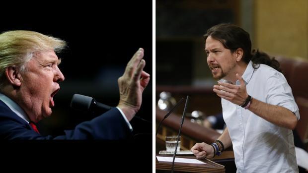 Donald Trump y Pablo Iglesias