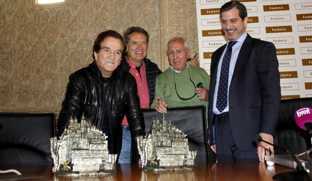Manuel Madruga, con el Dúo Dinámico y Santiago Castellanos