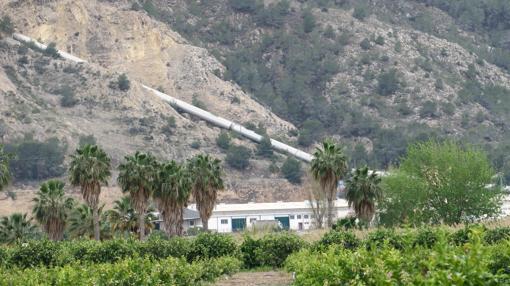 Canalización del trasvase Tajo-Segura a su paso por Orihuela