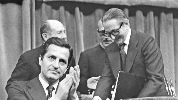 Adolfo Suárez junto a Torcuato Fernández-Miranda