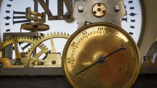 Detalle del interior del reloj