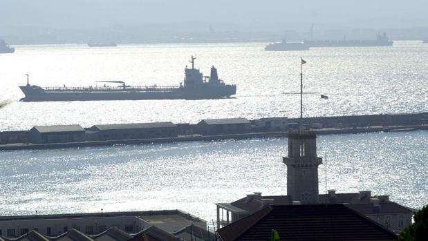 Vista de la base naval de la Royal Navy en Gibraltar