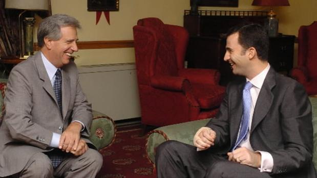 Don Felipe con Tabaré Vázquez, en 2005