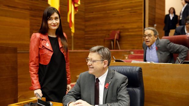 Carmen Montón y Ximo Puig, este jueves en las Cortes