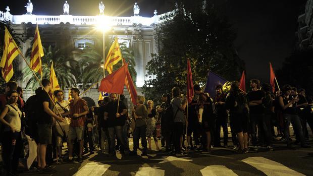 Foto de archivo de una manifestación de la CUP