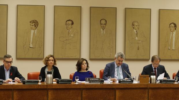 La vicepresidenta ante la Comisión Constitucional del Congreso de los diputados