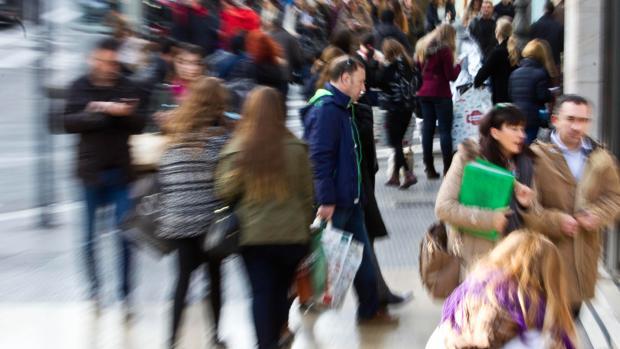 Imagen captada en una calle del centro de Valencia