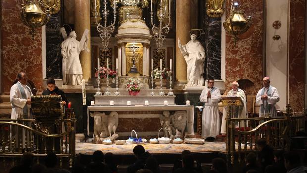 El cardenal Cañizares, durante la vigilia juvenil de la Inmaculada Concepción