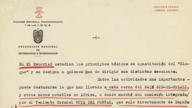 Uno de los documentos inéditos del espionaje de Franco al que ha tenido acceso ABC al incipiente Bloque Antifranquista Monárquico