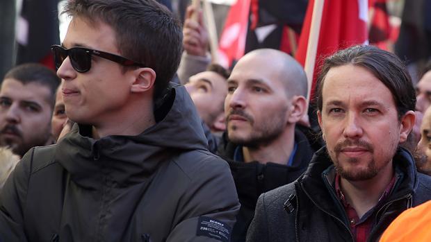 Íñigo Errejón y Pablo Iglesias en una manifestación en Madrid el pasado 28 de noviembre