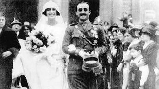 Boda de Francisco Franco y Carmen Polo