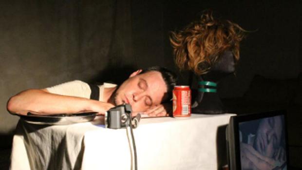 Un momento de un ensayo de la obra «Narco»