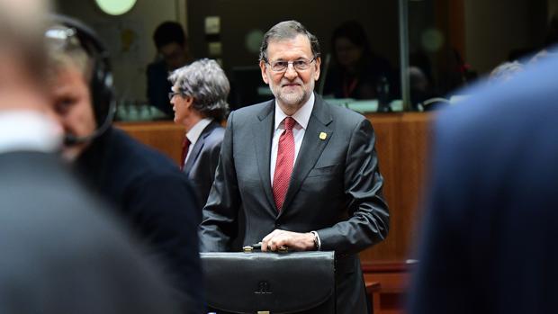 El presidente del Gobierno, Mariano Rajoy, en el Consejo Europeo de Bruselas