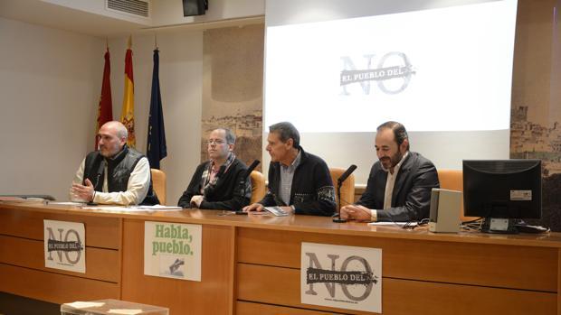 Eugenio Roldán, José García Cano, Jesús Fuentes y José Manuel Quijorna durante la presentación