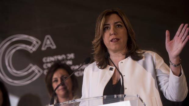 Susana Díaz, ayer, en la inaguración del Centro de Creación Contemporánea de Andalucía en Córdoba