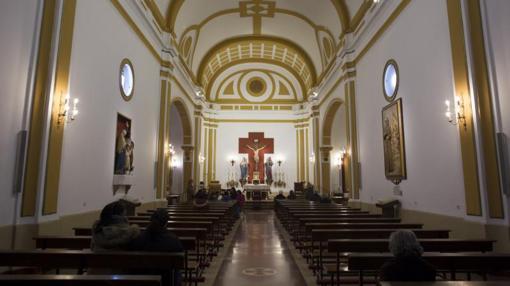 Interior de la parroquia de San Ramón Nonato
