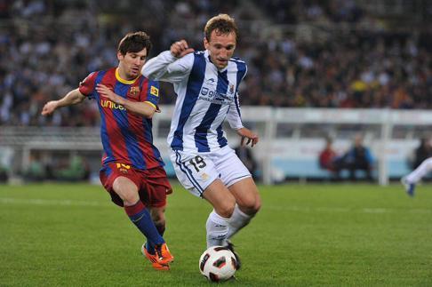 La Real Sociedad pagó 3,5 millones de euros por hacerse con Diego Rivas en 2006. Ahora defiende la camiseta del CD Manchego