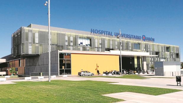 Fachada principal del Hospital Universitario Quirón, en Pozuelo