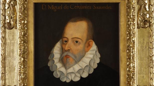 Retrato del escritor Miguel de Cervantes conservado en la Real Academia Española