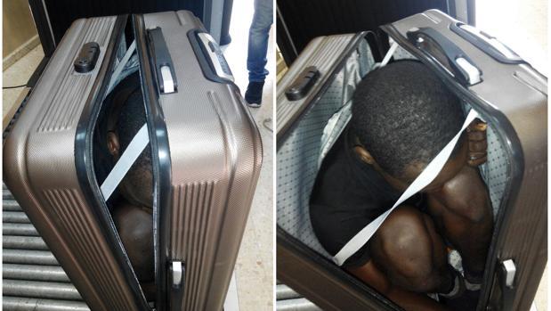 Detenida una marroquí por llevar a un inmigrante dentro de una maleta